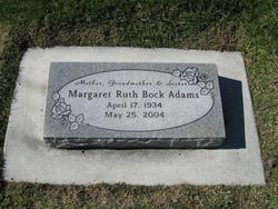 Margaret Ruth <I>Bock</I> Adams