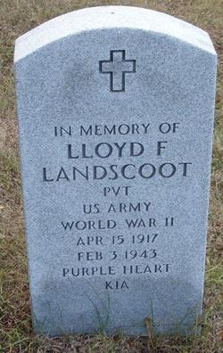 Pvt Lloyd F Landscoot