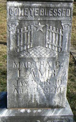 Martha G. <I>Patterson</I> Lamb