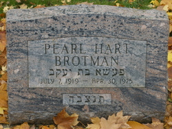 Pearl Patience <I>Hart</I> Brotman