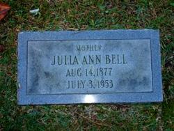 Julia Rebecca Ann <I>Bell</I> Bell