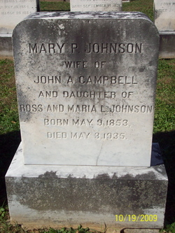 Mary Potts <I>Johnson</I> Campbell