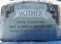 Adella Addie <I>Baggett</I> Carpenter
