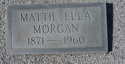 "Martha Ella ""Mattie"" <I>Kierce</I> Morgan"