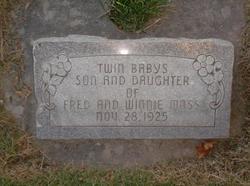 Twin girl and boy Moss