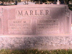 Mary <I>Mathews</I> Marler