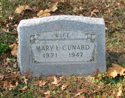 Mrs Mary E. <I>Leonard</I> Cunard