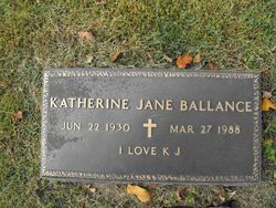 Katherine Jane <I>Elder</I> Ballance