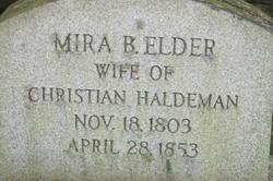 Mira B. <I>Elder</I> Haldeman