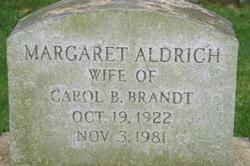 Margaret <I>Aldrich</I> Brandt