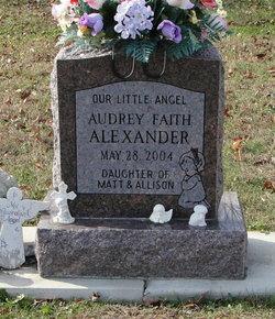 Infant Audrey Faith Alexander