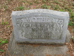 Olive Clyde <I>Childs</I> McNair