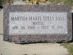 "Martha Marie ""Mattie"" <I>Seely</I> Bass"