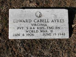 Pvt Edward Cabell Ayers