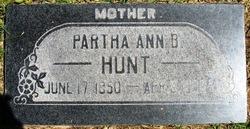 Partha Ann <I>Barney</I> Hunt