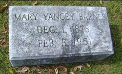 Mary <I>Yancey</I> Barnes