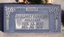 """Margaret Dunn """"Maggie"""" <I>Morrison</I> Singleton"""