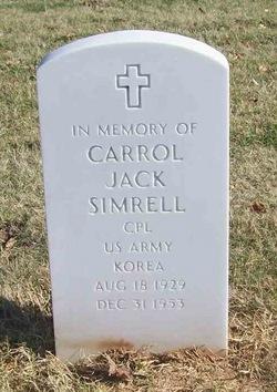 Corp Carrol Jack Simrell