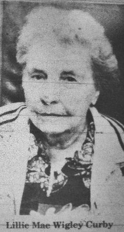 Lillie Mae <I>McCullough</I> Curby