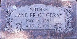 Jane <I>Price</I> Obray