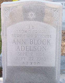 Ann <I>Block</I> Adelson