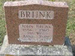 Annie <I>Ropp</I> Brunk
