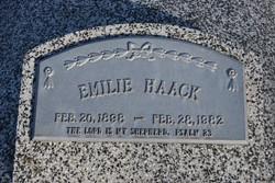 "Amelia ""Emilie"" <I>Deubler</I> Haack"