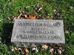Antoinette M <I>Young</I> Ballard