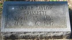 Sarah <I>Taylor</I> Grissette