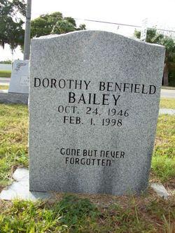 Dorothy <I>Benfield</I> Bailey