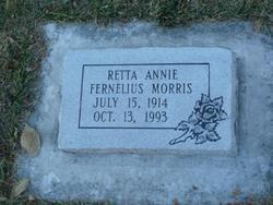 Retta Annie <I>Fernelius</I> Morris