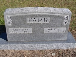 Amy (Annie) Ann <I>Baker</I> Parr