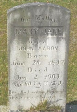 Mary Jane <I>New</I> Aaron