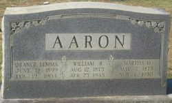 Martha Frances <I>Hall</I> Aaron