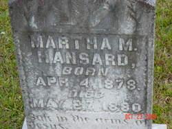 Martha Mattie Hansard