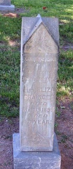 Mrs Eliza <I>King</I> Grainger
