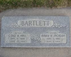 Cora <I>Barlett</I> Hall
