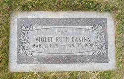 """Violet Ruth """"Vi"""" <I>Garritson</I> Eakins"""