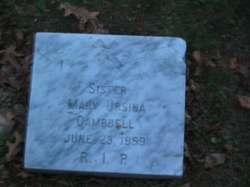 Sr Mary Ursina Campbell