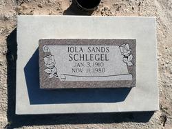 Iola Ruth <I>Sands</I> Schlegel