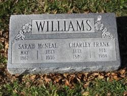 Sarah Elizabeth <I>McNeal</I> Williams
