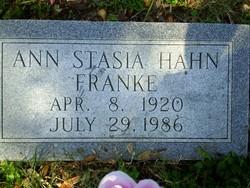 Ann Stasia <I>Hahn</I> Franke