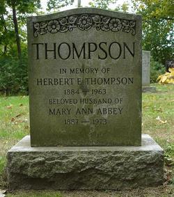 Mary Ann <I>Abbey</I> Thompson