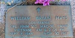 Corp William Brian Hays