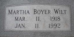 Martha <I>Boyer</I> Wilt