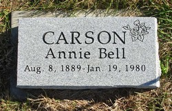 Annie Bell <I>Rees</I> Carson