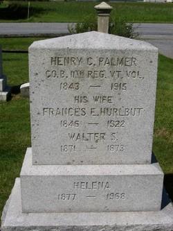 Frances E <I>Hurlbut</I> Palmer