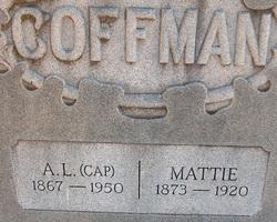 """Albert Lawrence """"Cap"""" Coffman"""