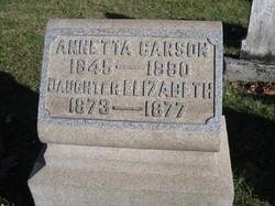 Annetta <I>Hannan</I> Carson