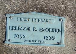 Rebecca E <I>Abbott</I> McClure
